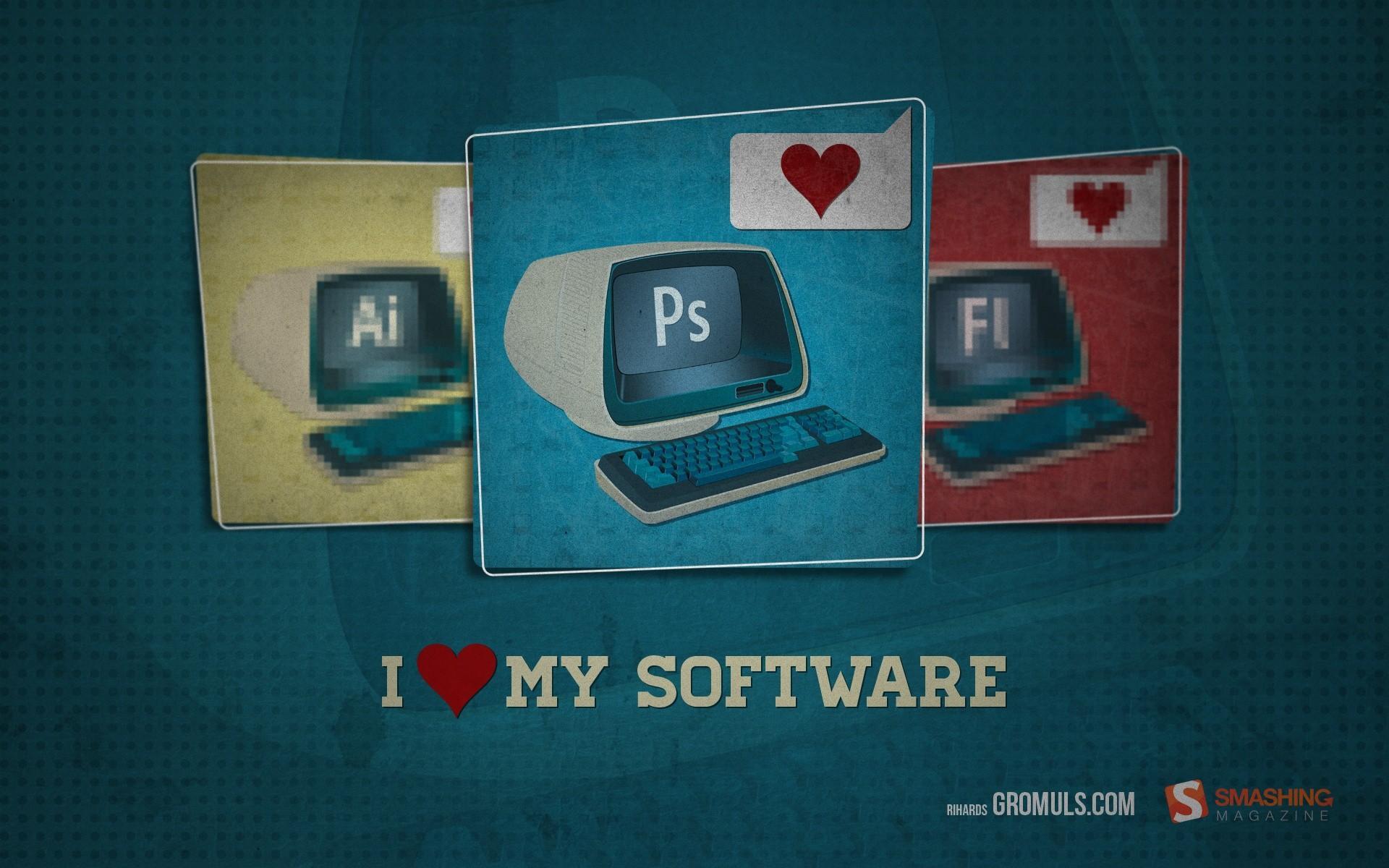 computers typography Adobe hearts Photoshop Smashing magazine blue background softwares - Wallpaper (#2212709) / Wallbase.cc