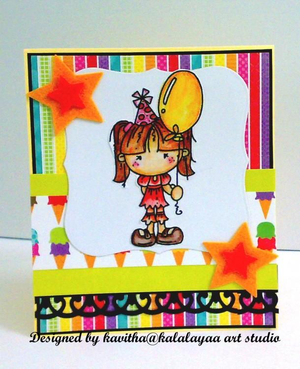 Bright birthday card - Craftsia - Indian Handmade Products & Gifts