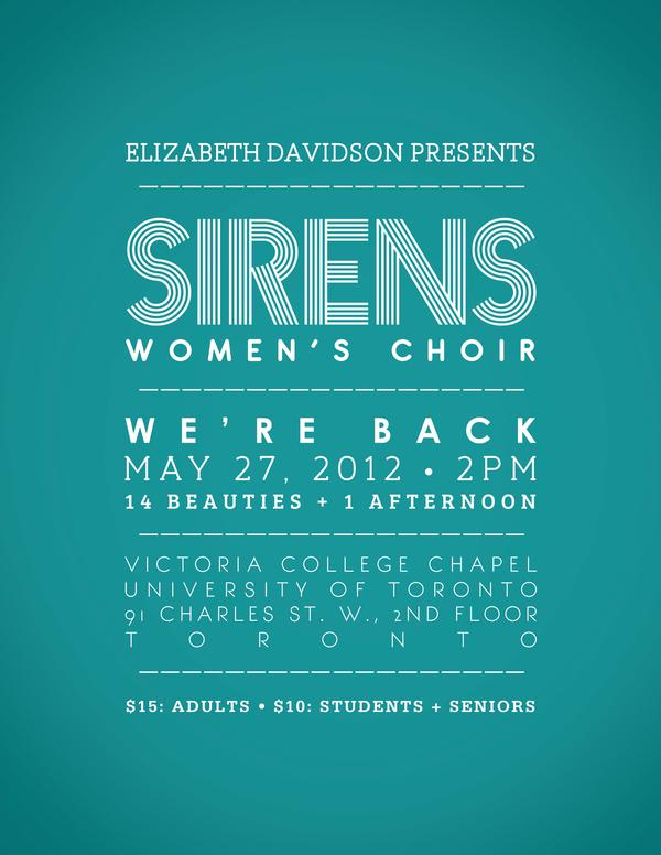 SIRENS Show Poster + Program