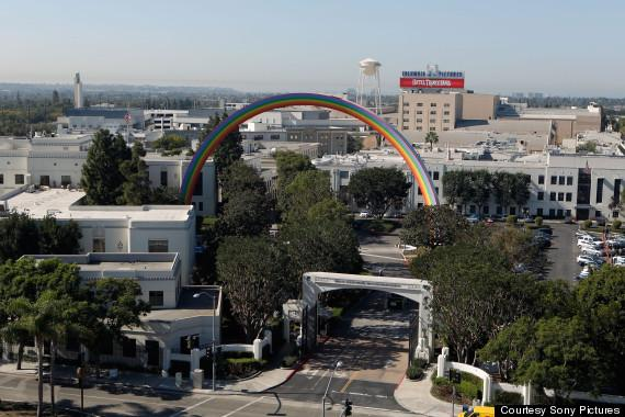 Culver City Rainbow: Sony Pictures Unveils Giant $1.6 Million Sculpture In Los Angeles (PHOTO)