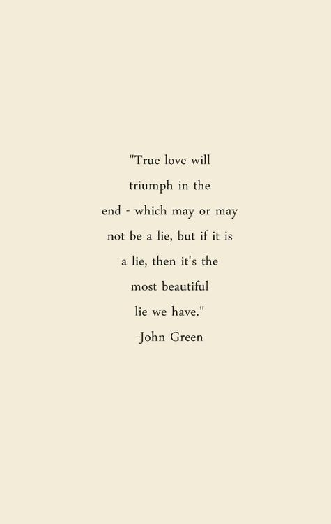 True love will triumph in the end...