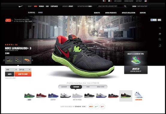 Web Design / NikeStore by Meghan Pruitt, via Behance