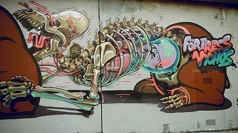 Dissected street art by Nychos — Lost At E Minor: For creative people