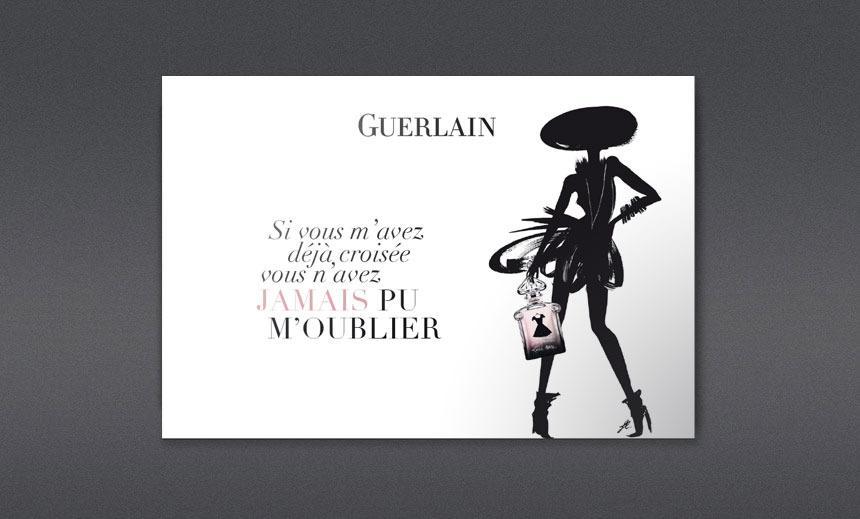 Guerlain, La Petite Robe Noire - Krystel TOURSCHER / Direction artistique. Illustration. Web. Imprimer