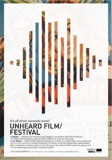 Unheard Film Festival Campagne | 178 aardige ontwerpers — Designspiration