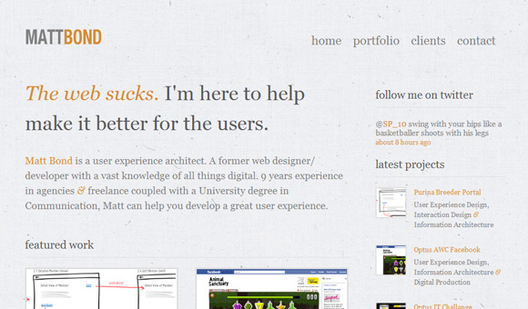 30 Brilliant Examples of Texture in Web Design | Inspiration