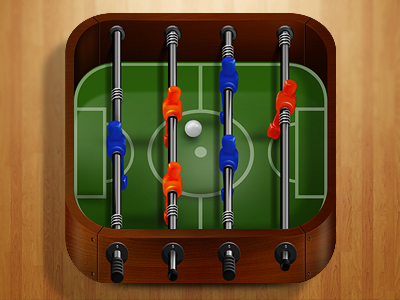 Football Table iPhone Icon by Saturized