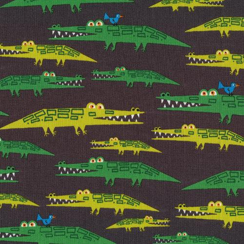 Alligators from Happy Drawing Cloud9 Organic by sewfreshfabrics