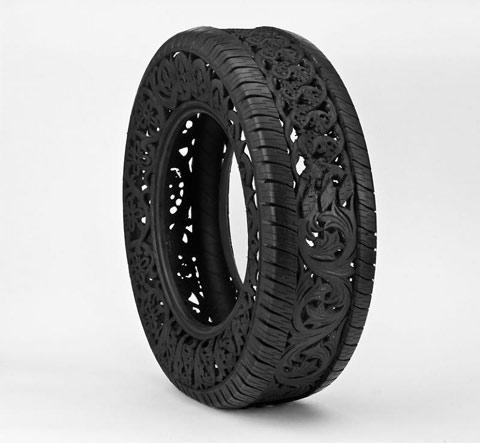 Intricate tire carvings by Wim Delvoye — Lost At E Minor: For creative people