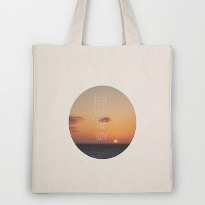 Here Comes The Sun Tote Bag by Ally Coxon | Society6