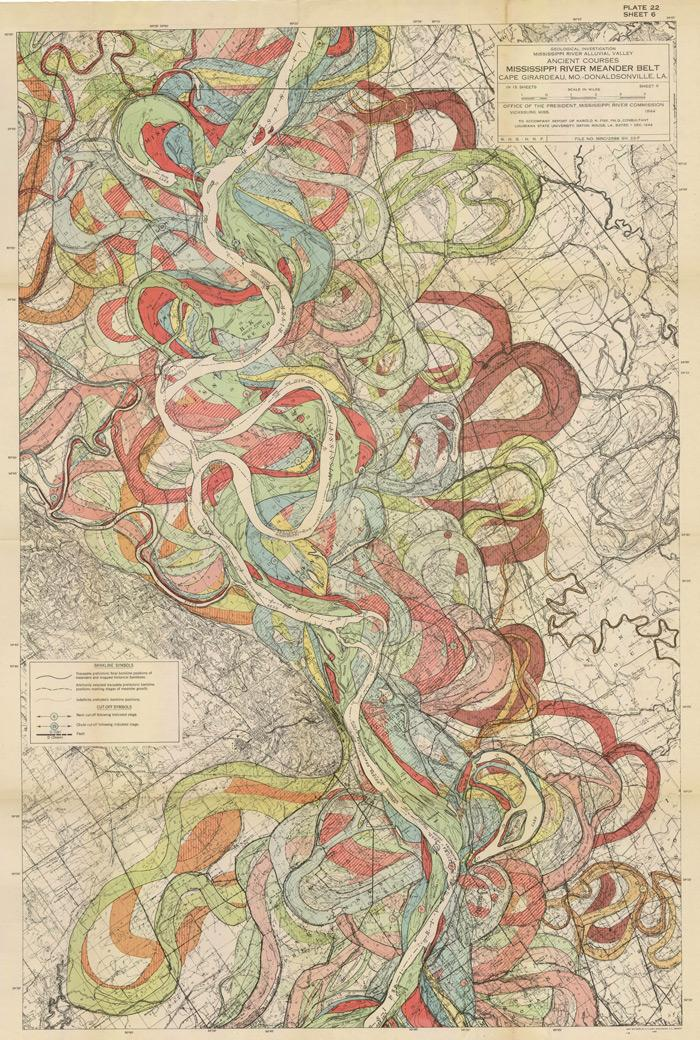 The Alluvial Valley of the Lower Mississippi River - Harold Fisk | Patternbank