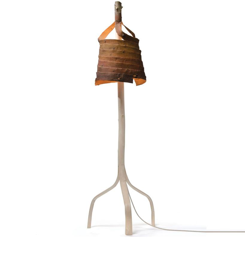 floris wubben: stripped branch lamp