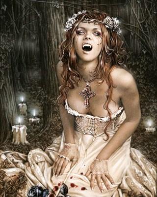 Vampire Girl, Victoria Frances Poster Card: 25cm x 20cm - Buy Online