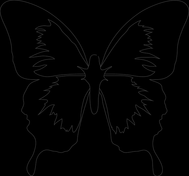 Image - Black, Simple, Outline, Drawing, Silhouette, White - Clipart 24642