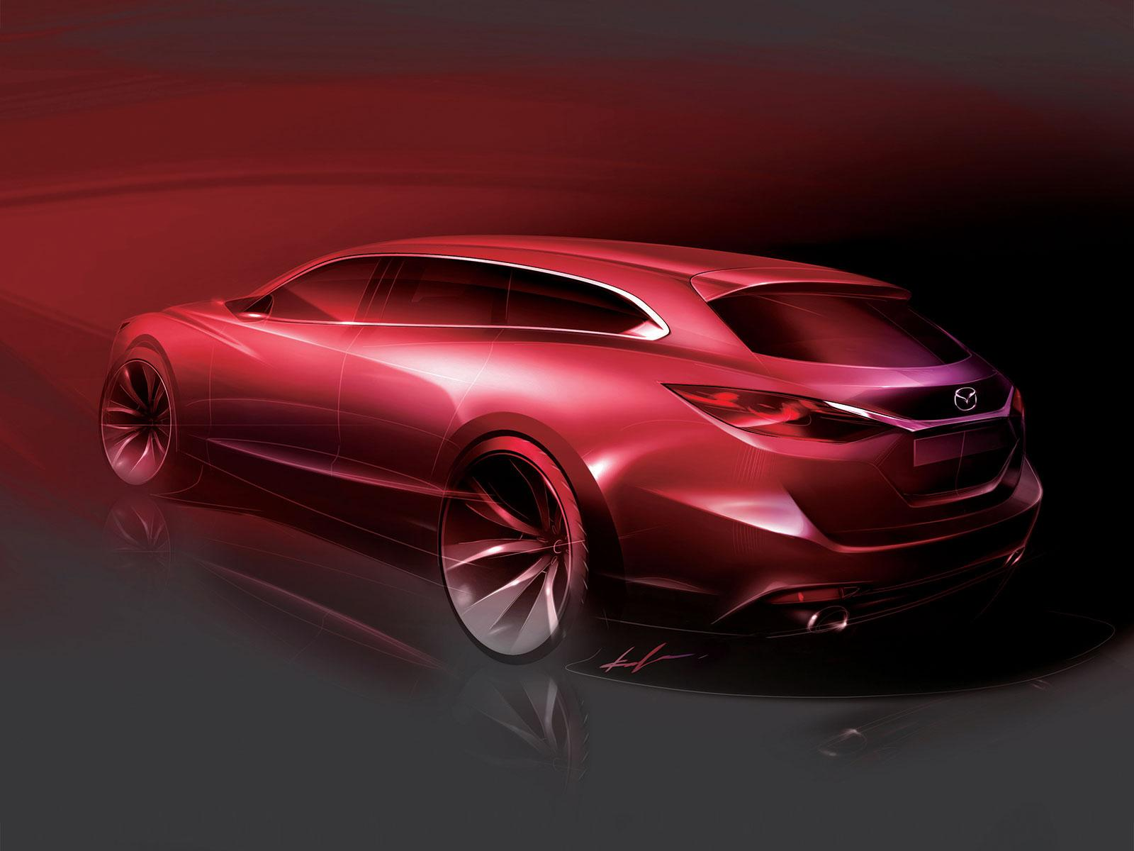 Mazda6 Wagon Design Sketch - Car Body Design