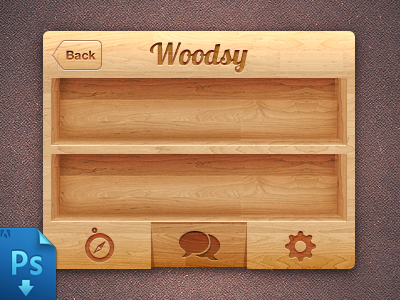 IPhone wood Ui(PSD Freebie) by Virgil Pana