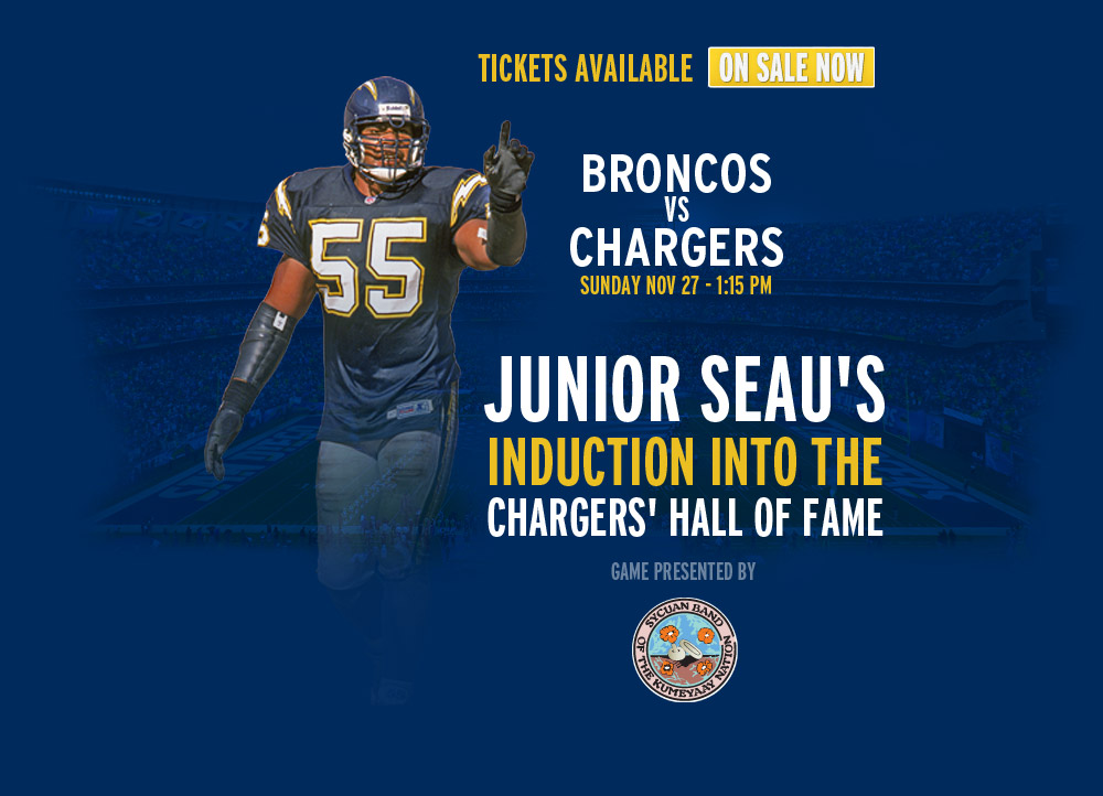 Seau's Induction into the Chargers' Hall of Fame - Sun. Nov 27 - Chargers.com