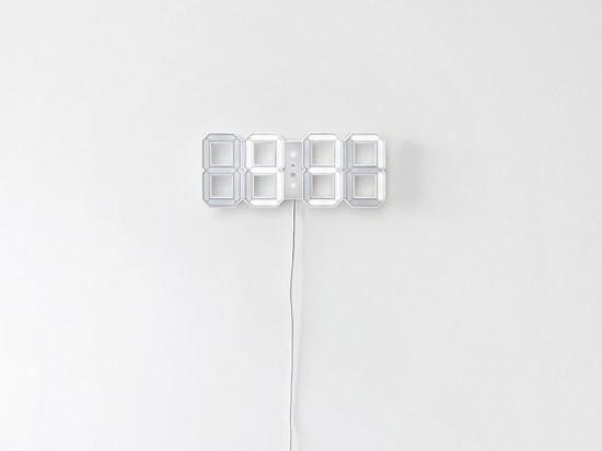 White & White Clock | Geek&Hype