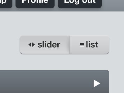 Slider / List by Rob Mientjes