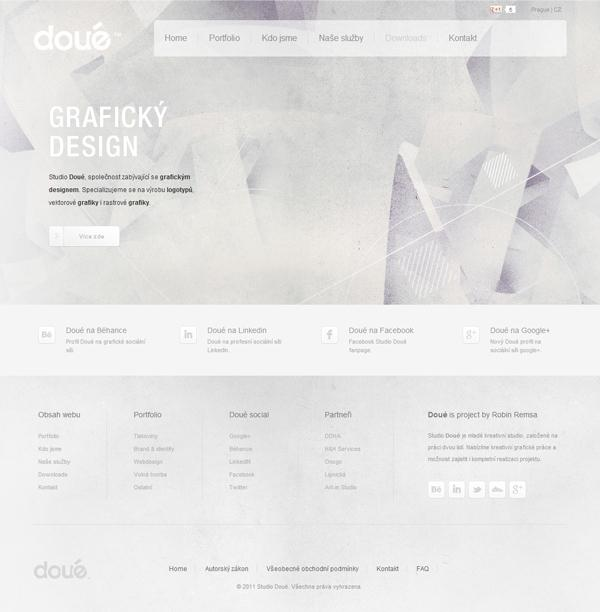 Doué studio web 2011 on Web Design Served