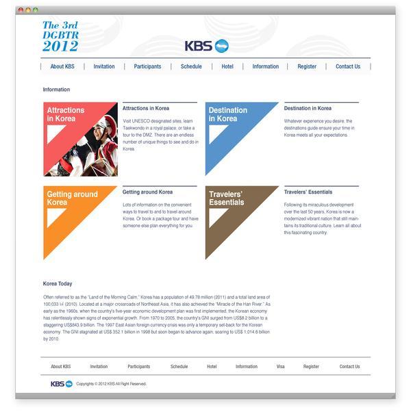 The 3rd DGBTR 2012 (KBS) on Web Design Served