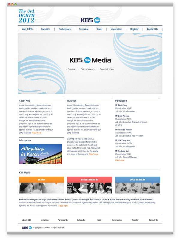 The 3rd DGBTR 2012 (KBS) on Web Design Served