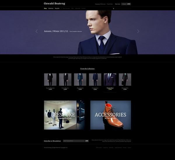 Ozwald Boateng eStore on Web Design Served