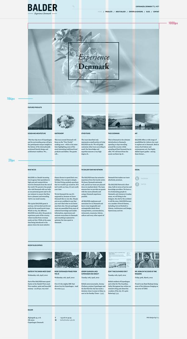 Balder — Experience Denmark on Web Design Served