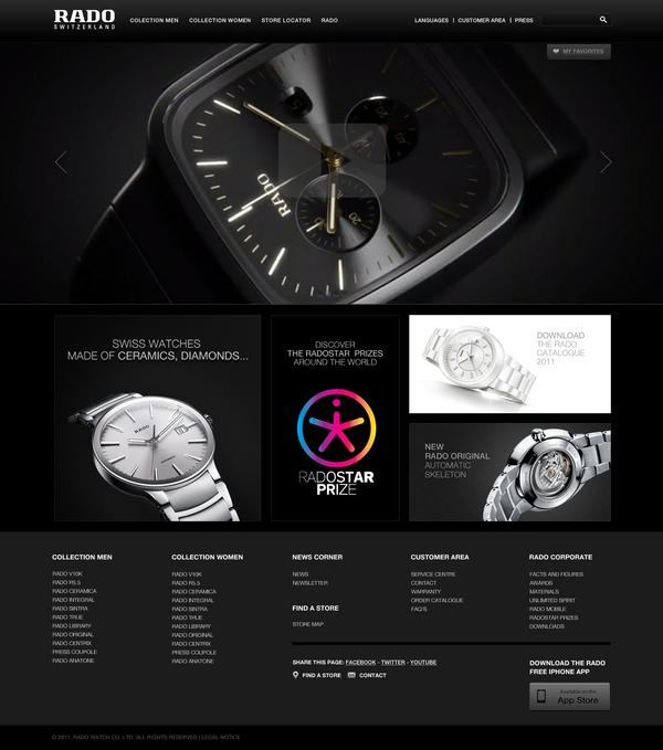 Rado website Pitch on Web Design Served
