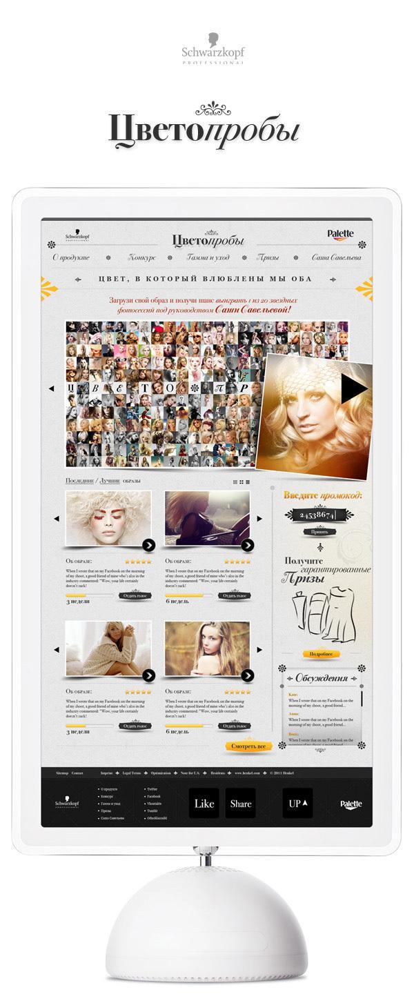 Schwarzkopf Palette Colors on Web Design Served