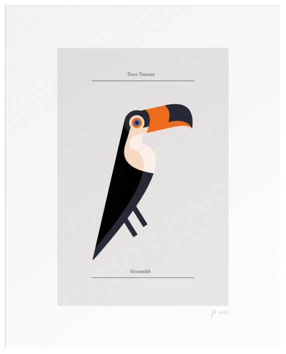 Toco Toucan Limited Edition Print 2/50 by Lumadessa on Etsy