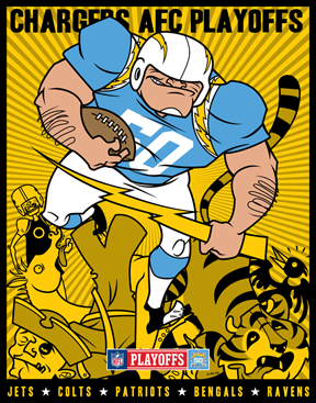 50th Anniversary poster series..... - Page 5 - The Official San Diego Chargers Forum