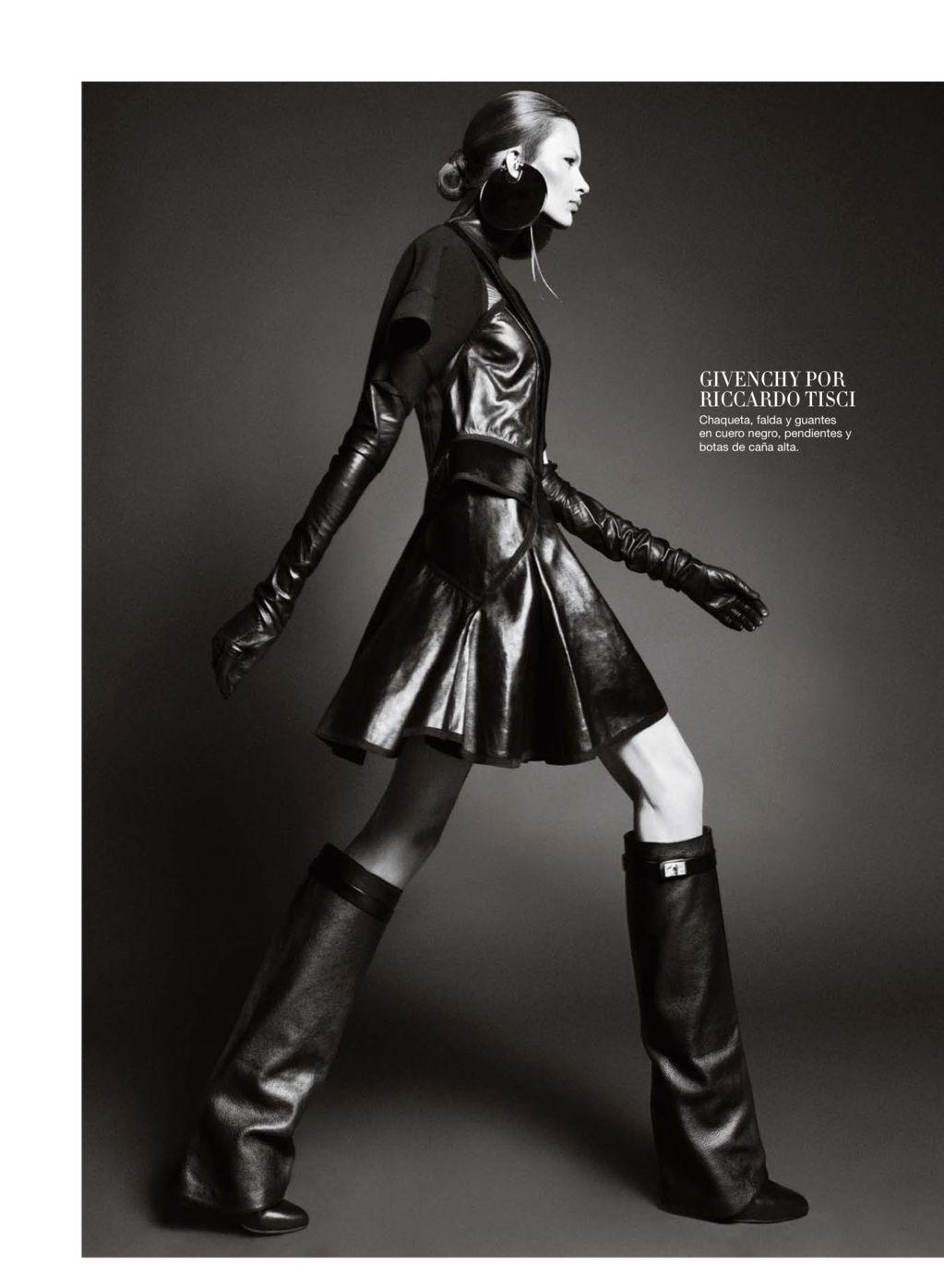 Bette Franke Goes to the Dark Side for Harper's Bazaar Spain October 2012