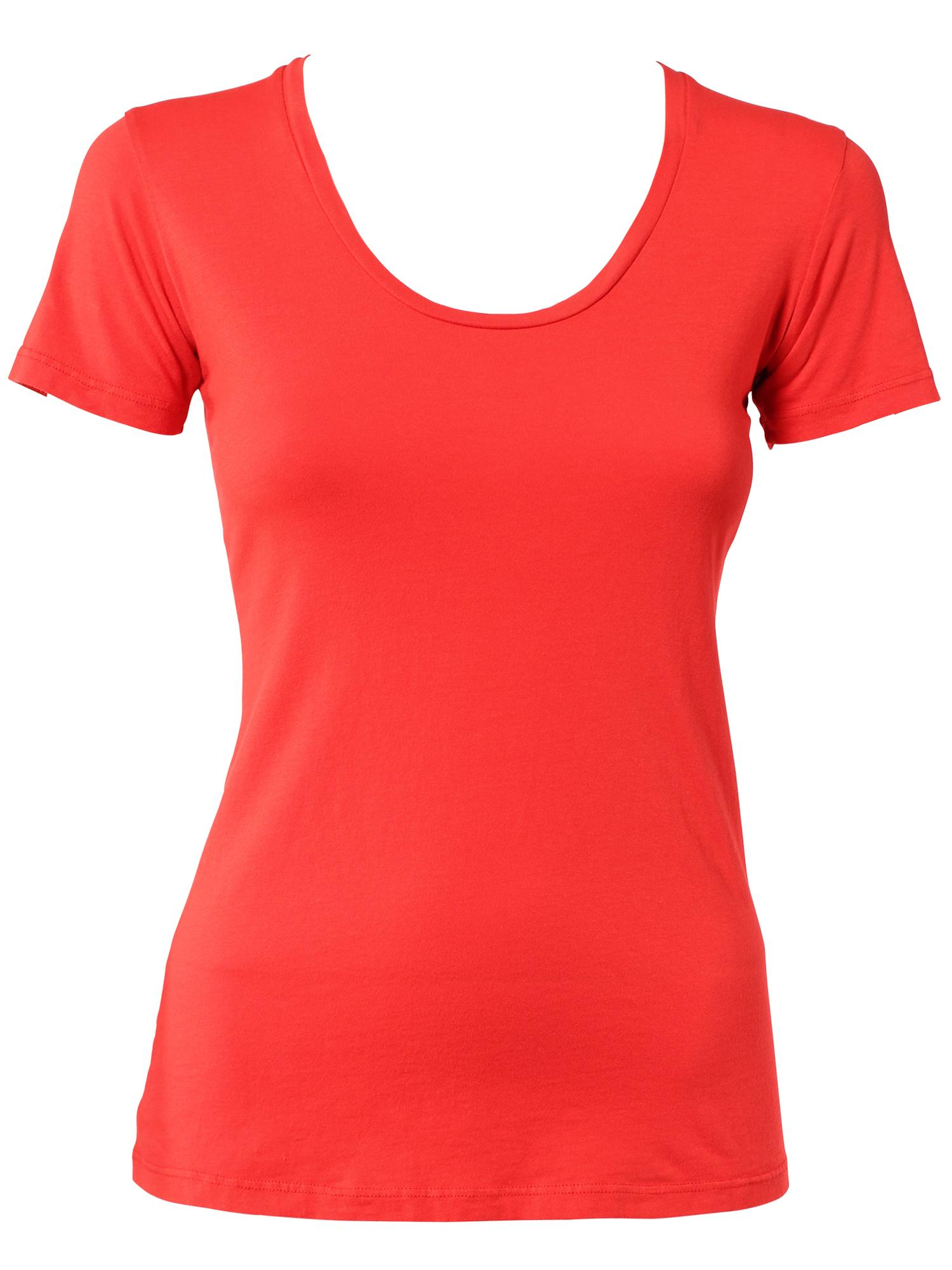 Modern Red Scoop Neck Tee | Fashioning Change ®