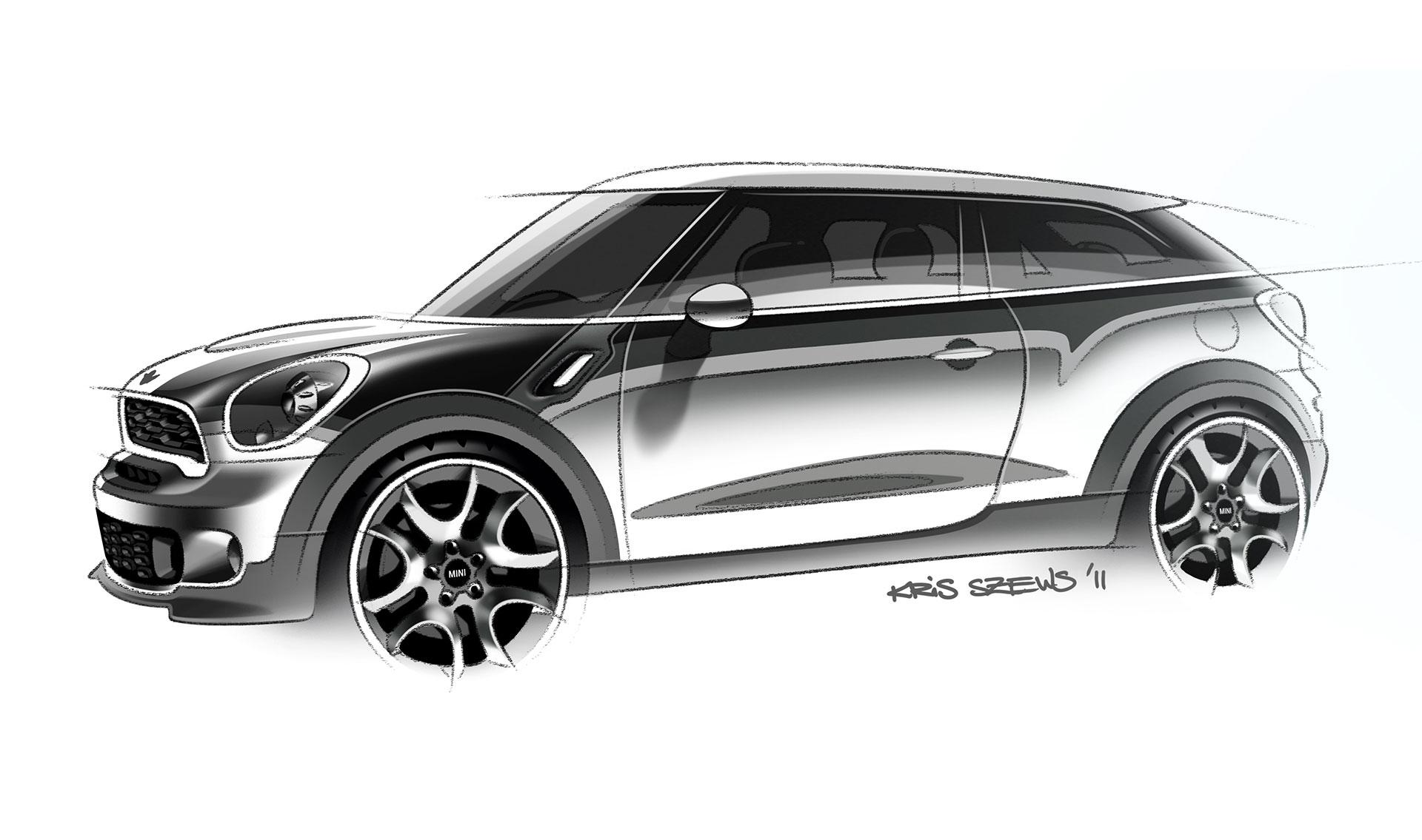 MINI Paceman Design Sketch - Car Body Design