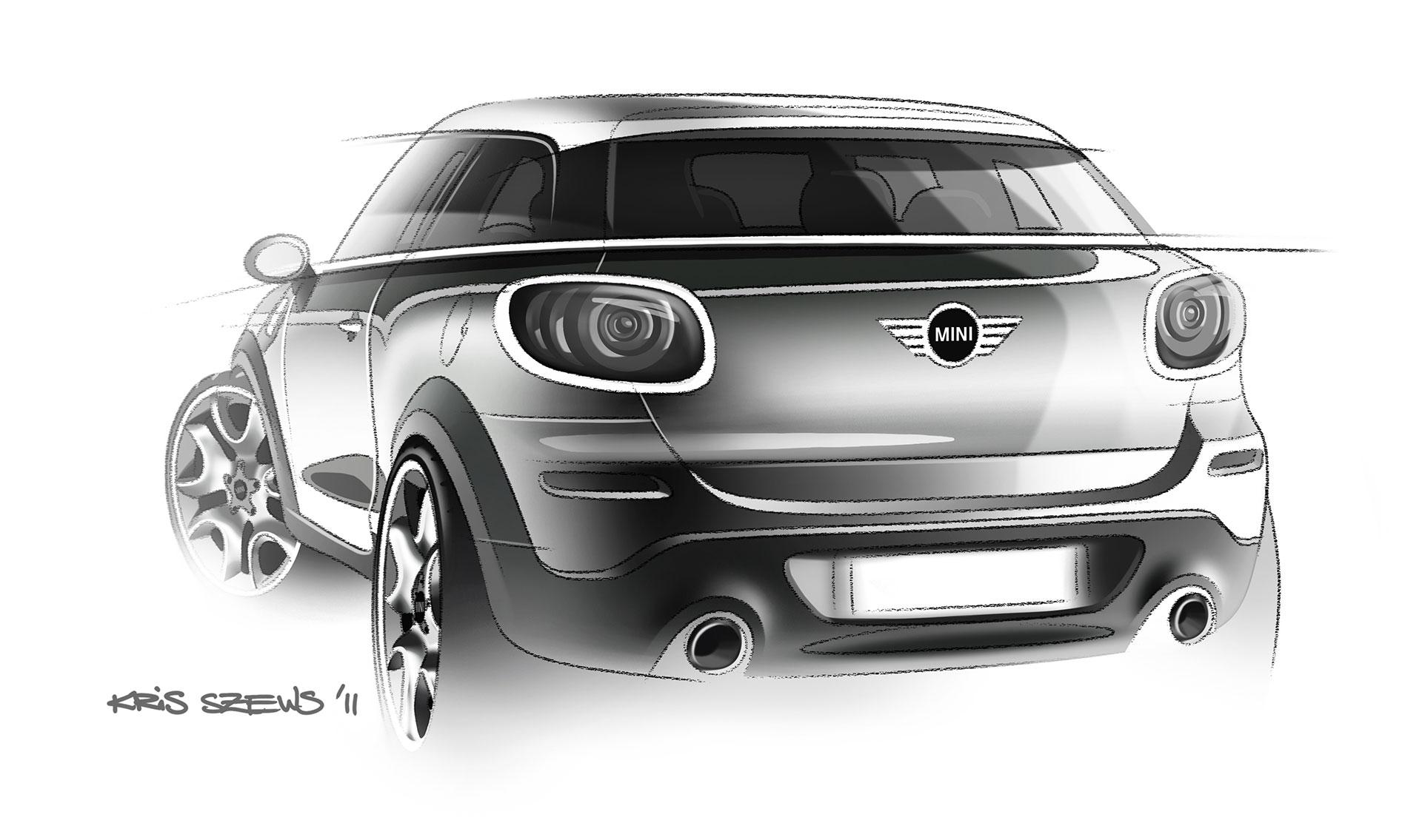 MINI Paceman Design Sketch - Car Body Design