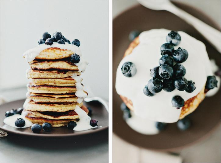 LEMON PANCAKES WITH YOGURT +BERRIES - SPROUTED KITCHEN - A Tastier Take on Whole Foods