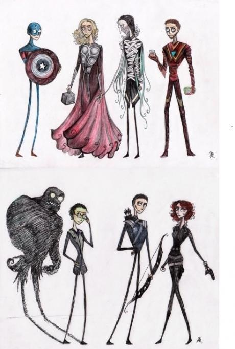 If Tim Burton did the Avengers - Win Picture