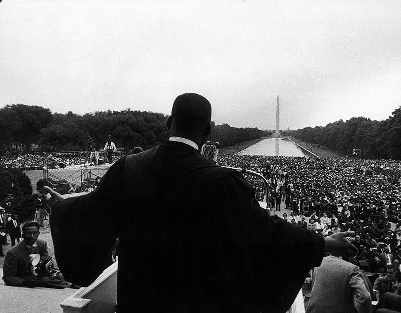 Reverend Martin Luther King Jr. speaking at 'Prayer Pilgramage for Freedom' at Lincoln Memorial, May 1957 | Flickr - Photo Sharing!