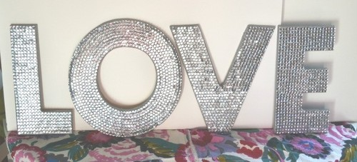 Twisted Twig Sequin Letters | theglitterguide.com