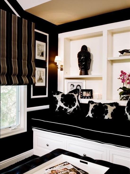 Bedroom Black Walls Design, Pictures, Remodel, Decor and Ideas