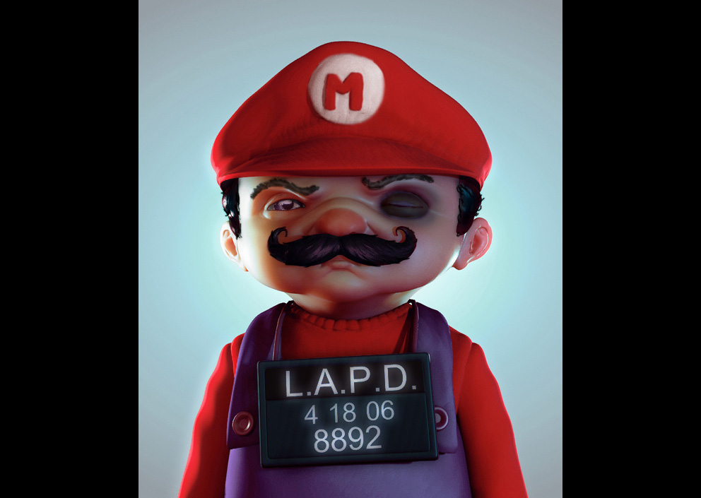 3D Art: Mario - 3D, Anime, Concept art, Fantasy, Illustrations, Photoshop, Portrait, Videogames
