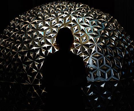 Lotus Dome installation by Studio Roosegarde