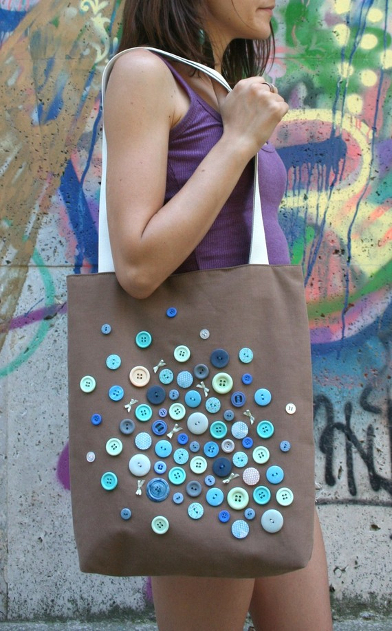 CUSTOMIZE YOUR OWN A Bunch of Buttons on One Bag by TrafficBags
