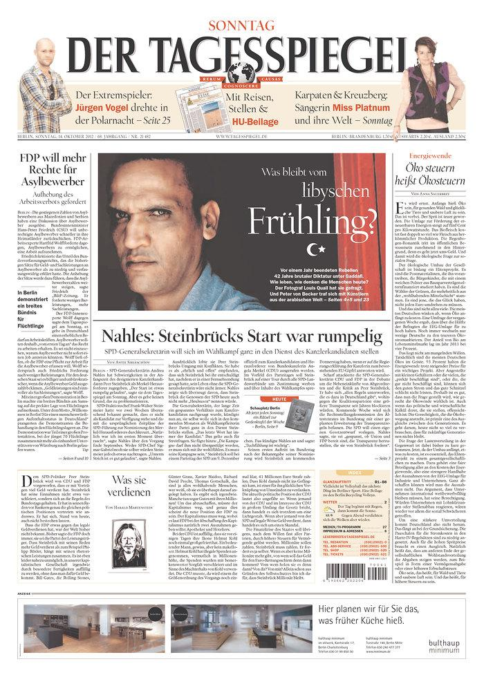 Newseum | Today's Front Pages | Der Tagesspiegel