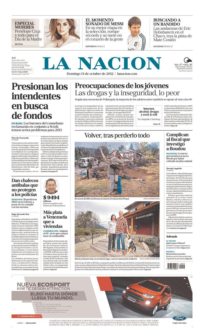 Newseum | Today's Front Pages | La Nacion