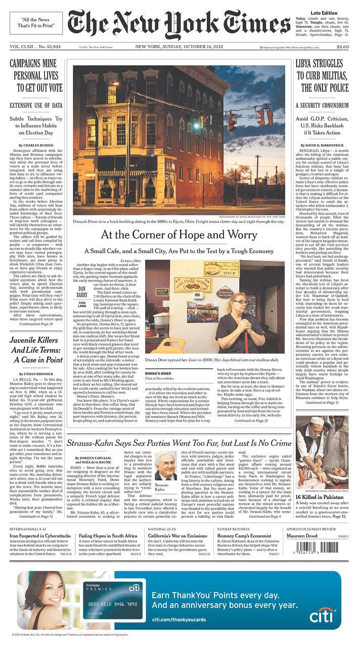 Newseum | Today's Front Pages | The New York Times