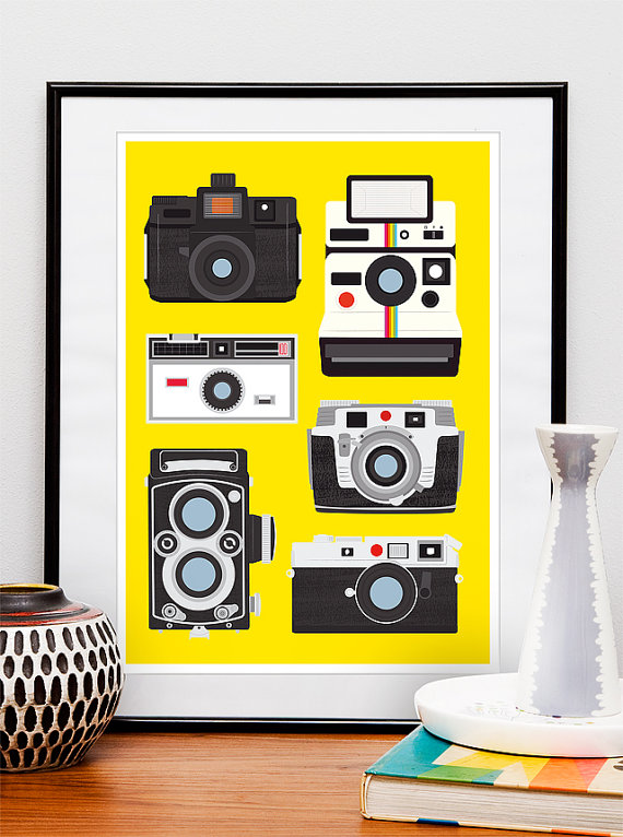 Retro Print Poster Polaroid Rolleiflex Holga Cool by handz