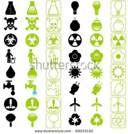 A Set Of Vector Icons : Energy And Environmental Conservation (Silhouette/Line) - 69055192 : Shutterstock