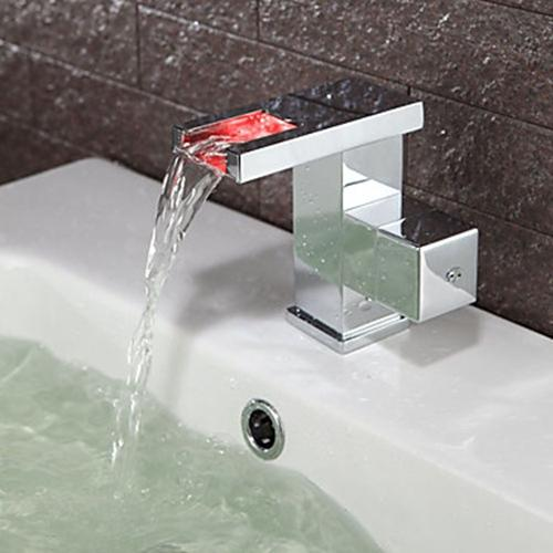 Contemporary Color Changing LED Bathroom Sink Faucet – FaucetSuperDeal.com